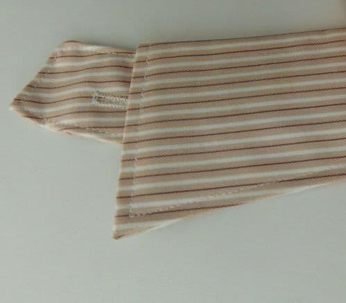 Climax striped shirt collar size 17.5 brown semi-stiff UNUSED vintage detachable